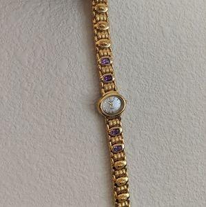 Vintage Jules Jurgensen Amethyst Watch